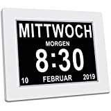 SINOIDEAS - Seniorenuhr 8 Zoll. Digitale Kalender und Seniorenuhr Foto-Funktion - Digitale Uhr,...