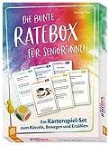 Die bunte Ratebox für Senioren und Seniorinnen Ein Kartenspiel-Set zum Rätseln, Bewegen und...