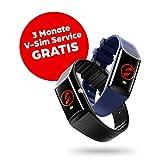 V By Vodafone V-SOS Band, ein Armband mit SOS-Alarmknopf und Sturzerkennung für drinnen und...