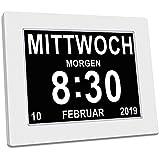 SINOIDEAS - Seniorenuhr 8 Zoll. Digitale Kalender und Seniorenuhr - Digitale Uhr, Wecker, Kalender...