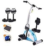 XBSLJ Mini Bike Heimtrainer Motorisiertes Bein- und Armpedal-Trainingsrad Mini-Heimtrainer mit...