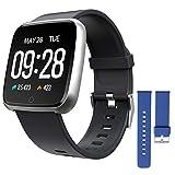 ZKCREATION Smartwatch,Fitness Armbanduhr Fitness Uhr Wasserdicht Fitness Tracker Sportuhr mit...