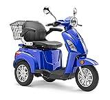 Elektroroller LuXXon E3800 - Elektro Dreirad für Senioren mit 800 Watt, max. 20 km/h, Reichweite...