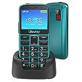 Uleway Seniorenhandy mit großen Tasten und Mobiltelefon ohne Vertrag,2,3 Zoll LCD Hörgeräte...