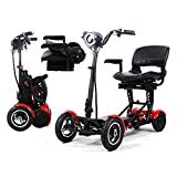 Elektromobil Klappbar, Elektro Rollstühle Tragbar Leichter Kompakter Faltbare 4-Rad Motorisierter...