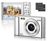 CLUINIGO Digitalkamera, FHD 2.7K 44MP Pocket Vlogging Vidio Foto Kompaktkameras für YouTube mit...