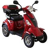Rolektro E-Quad-15 Rot Elektromobil Elektroroller 4-Rad 1000W 15 Km/H RW 50KM Koffer Rückwärtsgang...