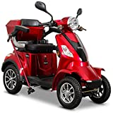 Rolektro E-Quad 25 km/h Elektromobil Rot - 4-Rad Elektroroller 1000W - RW 50km - Koffer...