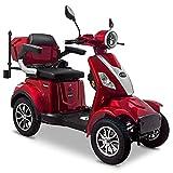 Rolektro E-Quad 25 V.3 Pro Rot mit Lithium Akku - Elektromobil 4-Rad - 80km Reichweite - 1000W...