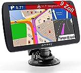 Jimwey GPS Navi Navigation für Auto LKW PKW 9 Zoll Lebenslang Kostenloses Kartenupdate...