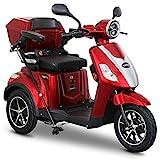 Rolektro E-Trike 25 V.2 Dreirad Rot - Elektroroller 1000W - Reichweite 50km - Seniorenmobil mit...