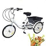 Dreirad für Erwachsene mit Korb - 20 Zoll 8 Gänge Dreirad für Senioren,Erwachsenendreirad,Trike...