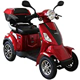 Rolektro E-Quad-25 Rot Elektromobil Elektroroller 4-Rad 1000W 25 Km/H RW 50KM Koffer Rückwärtsgang...
