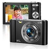 Vnieetsr Digitalkamera 2.7K Ultra HD Mini-Videokamera 44MP 2.8 Zoll LCD Wiederaufladbare...