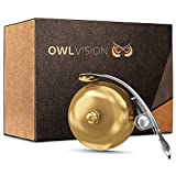 OWL VISION - Hochwertige Fahrradklingel Mini [universal passend] Fahrrad Klingel Retro sehr klarer...