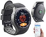 Newgen Medicals Smartwatch SIM GPS: GPS-Handy-Uhr & Smartwatch für iOS & Android, Bluetooth,...