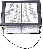 XXYL LED Lupen 3X Tischlupe mit Licht - A4 Leselupen für Senioren Groß Rechteckiges Standlupe mit...